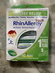 RhinAllergy Kids Boiron 3 Tubes 80 Pellets Each Allergy Relief Homeopathic 7 23 $11.88