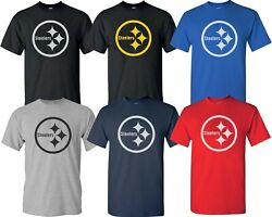 Pittsburgh Steelers T Shirt Steelers LOGO T Shirt NFL Design Multi Color S 4XL $12.34