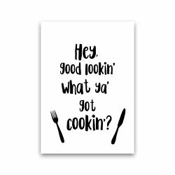 Hey Good Lookinamp;#39; Modern Print Framed Kitchen Wall Art GBP 10.00