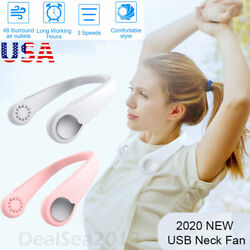 Portable Leafless Hanging Neck Fan Mini Cooling Neckband Electric Air Cooler US $26.99