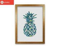 Teal Pineapple Print By Orara Studio Framed Kitchen Wall Art GBP 10.00