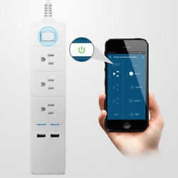 eco4life Smart Power Strip 3 Outlets and 2 USB Surge Protection Alexa Google $24.99