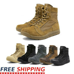 Mens Military Tactical Combat Army Boots Lightweight Hiking Work Boots Shoe Size $36.89