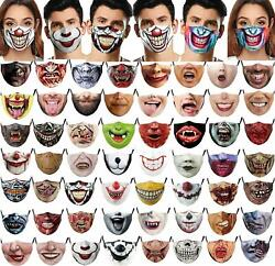 Halloween Mask Face Mouth amp; Nose Protection Scary Teeth Face Mask Novelty $8.64