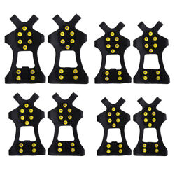 10 Stud Universal Ice No Slip Snow Shoe Spikes Grips Cleats Crampons C $13.10