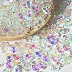 50pcs 6x8mm Crystal Glass Charms Pendants Loose Petal Beads Jewelry Making DIY $3.89