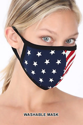 Soft Cotton American Flag USA Face Mask Double Layer Fashionable Reusable Cloth $6.75
