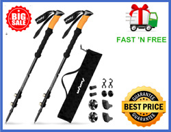 Trekking Poles Carbon Fiber Hiking Pole Set of 2 Walking Sticks by VIVAI $35.99