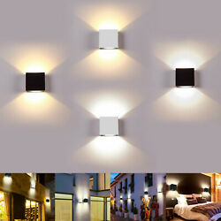 LED Wall Lamp Modern Up Down Sconce Lighting Fixture Cube Light Indoor Decor 6W $23.97