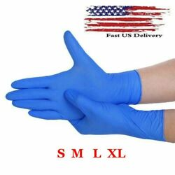 100 Pcs Nitrile Blue Durable Rubber Cleaning Hand Gloves Powder Latex Free USA $22.95