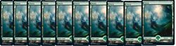 SHIPS 9 25 10x Forest 280 FULL ART NM Zendikar Rising Basic Land $4.79