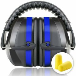 Ear Muffs Hearing Foldable Noise Reduction Protection Gun Shooting Range US Blue $12.85