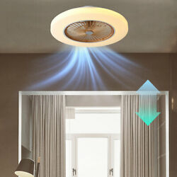 58cm 23quot; Invisible Dimmable Ceiling Fan Light Remote Control Chandelier Bedroom $118.01