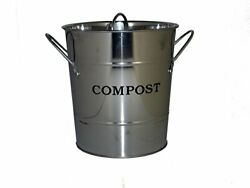 2 N 1 Kitchen Bucket in Stainless Steel shiny $33.03