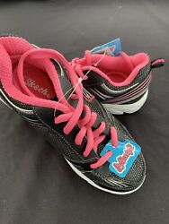 Girls Skechers shoes size 13 Black neon pink $16.50
