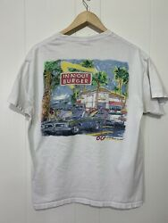 Vintage In N Out Burgers Hanes Tagged White T Shirt Mens L Hot Rod CA Americana $22.00