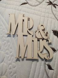 Mr amp; Mrs Wooden Letters 4quot;x5quot; $6.98