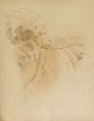 Auguste Roubille Drawing Pencil Walking Countryside $197.41