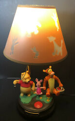 Vintage DISNEY Pooh amp; Friends Talking Animated Lamp Light With Lampshade $59.95