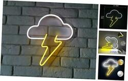 "LED Neon Light Sign 13"" Cloud and Lightning Neon Wall Sign Hanging Art for Bar $58.62"