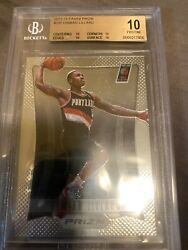 2012 13 Panini Prizm Base Damian Lillard RC BGS10 Black Label Quad 10s $7999.00