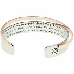 Melix Home Inspirational Bracelets For Women Mens Sobriety Gifts Recovery AA Of $23.31