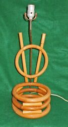 Vintage Antique Lamp Rattan 1940s V as in Victory WW ll Planter Tiki Hawaiian $265.00