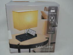 USB Bedside Table Lamp for Bedroom with 3 Phone StandsModern Table Lamp with 2 $26.99