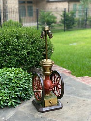 Antique Lamp Iron Coffee Grinder Enterprise Mfg Philadelphia PA Rewired 2 of 2 $1475.00