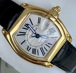 Cartier Roadster Automatic 18k Yellow Gold Boxes Papers Extra Luxury Wristwatch $8250.00