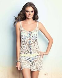 quot;MAAJIquot; BOWER FRAGRANT IVORY LACE COVER UP ROMPER SIZE: L NWT $96.00 $39.99