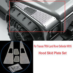 Metal Skid Plate Hood Decorative For Traxxas TRX4 Land Rover Defender W016 Car $8.53