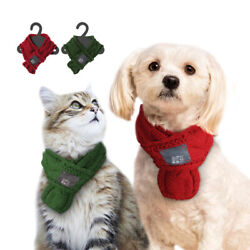 Knitted Winter Dog Collar Scarf Neckchief Warm for Small Large Dog Pet Puppy Cat $6.99