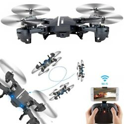Mini 8807W Foldable With Wifi FPV HD Camera 2.4G 6 Axis RC Quadcopter Drone Toys $40.37