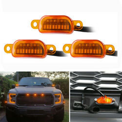 3*Front Grill LED Yellow Light Lamp For Ford F150 2015 2017 Upper Bumper Grille $18.88
