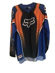 Vintage FOX Motocross Orange Motocross Motorcycle Jersey Men Adult XL $89.99