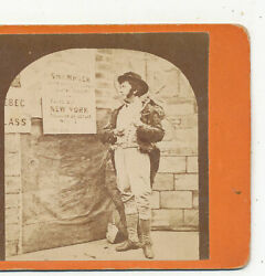 Genre The Frenchman from Cork Large Signs Stereoview c1870 $8.00