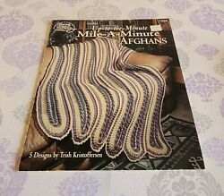 American School Needlework CROCHET UP TO THE MINUTE MILE A MINUTE AFGHANS #1224 $12.99
