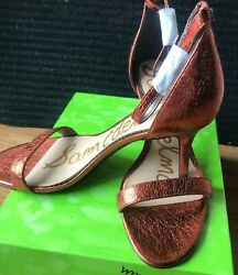 Sam Edelman Womens Open Toe SandalsANKLE STRAP STILETTO 9.5 M Auburn Metallic $25.00