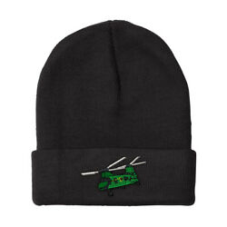 Beanies for Men Helicopter A Embroidery Winter Hats Women Acrylic Skull Cap $16.99