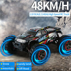 RC Car 1:10 Scale 4WD 2.4Ghz Off road Remote Control Monster Truck High Speed $96.18