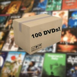 Lots of 100 Used Assorted DVD Movies TV Show Bulk Used DVDs Lot Wholesale A List