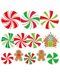 Peppermint Cutouts for Candy Party Decoration Kids Classroom Bulletin Board 12pc $12.99