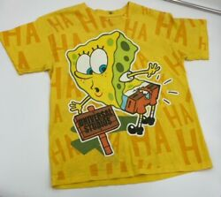 Nickelodeon Spongebob Sqaurepants Cartoon Vintage Universal Studios T Shirt Tee $17.99