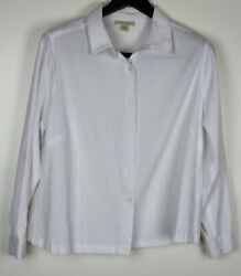APPLESEED#x27;S Plus Women#x27;s Long Sleeve Button Down Shirt White Size 1X $9.59