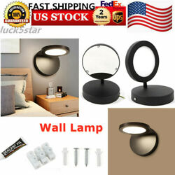 110V Aluminum Wall Lamp LED Light Lamp Fixture Bedside Wall Lamp Warm Light USA $31.38