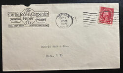 1924 Denver CO USA Commercial Cover To Mora Carter Rice amp; Carpenter