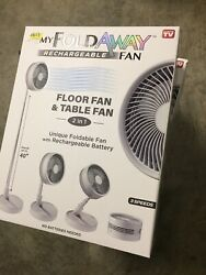 MY FOLDAWAY FAN Rechargeable Ultra Lightweight Portable Compact Floor amp; Table $38.89