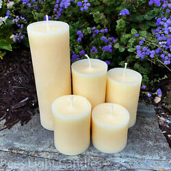 🐝 White Beeswax Pillar Candles 100% Natural Honey Bees Wax USA Unscented Pure $16.95