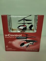 NEW Brookstone U Control Silver Bullet RC Helicopter In outdoor Helicopter $19.99
